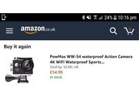 Action sports camera PowMax WW-54 Water proof + wifi