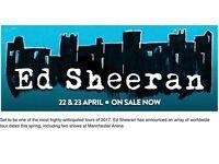 4 Ed Sheeran tickets, manchester saturday 22nd April