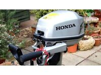 Honda BF5A 5HP Long Shaft Outboard Motor w/ Charging Coil As New. Complete with Fuel tank & manual for sale  Nailsea, Bristol