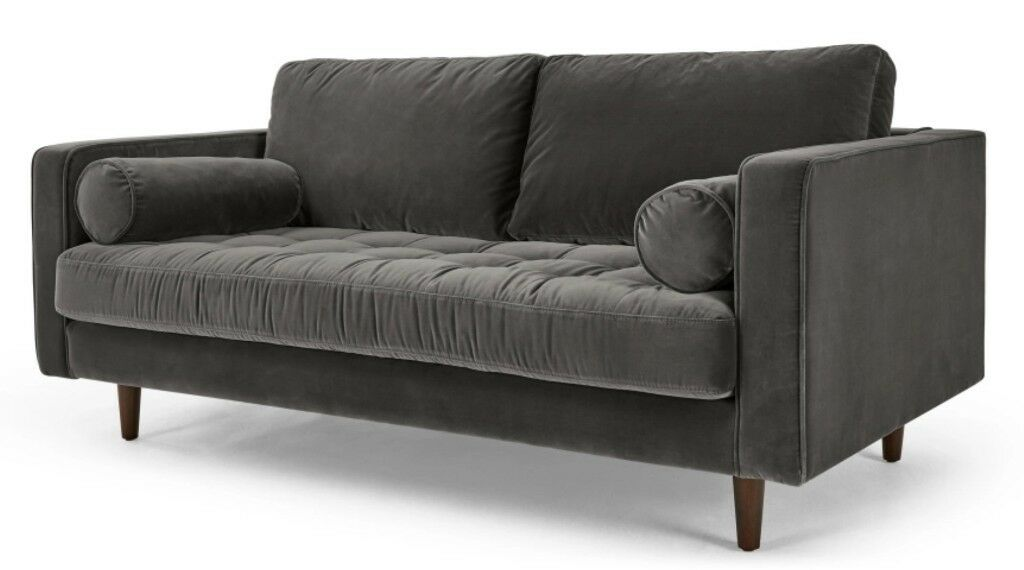 Made 2 Person Sofa Scott Large Velvet Couch For 550 Instead Of Rrp