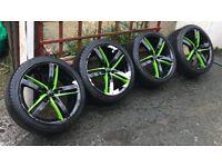 "18"" 5x100 pcd vw mk4 golf seat Leon Ibiza alloys wheels"
