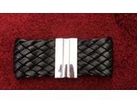 NEW faux leather plaited mens bracelet
