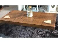 Solid Wood Coffee Table with hairpin legs