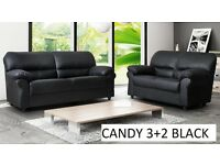 3+2 candy black sofa / sofas delivery thursday call us now