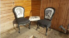 Antique reupholstered stunning chairs