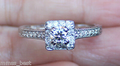 $2600 New Kobelli 14K S9 3/4ct  Diamond Antique Halo Engagem