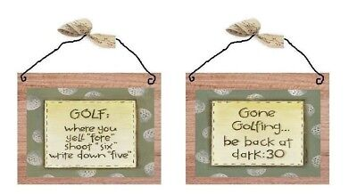 Golf Pictures Funny Sayings Wall Hanging Sport Ball Decor Green Plaques
