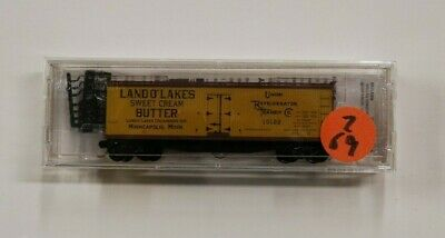 Lot 2-69 * N Scale Micro Trains 49460 * 40' Reefer, U.R.T.C. (Land O' Lakes) for sale  Shipping to Canada