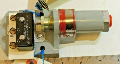 SOR Static O-Ring 12-100 psi Differential Pressure Switch, p/n 6H3-K3