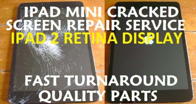 Ipad Mini 2 Retina Damaged Cracked Screen Replacement Repair Service 2nd