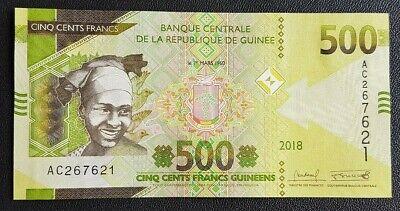 AFRIQUE - AFRICA - AFRICAN NOTE - BILLET DE GUINEE 500 FRANCS 2018 NEUF - UNC