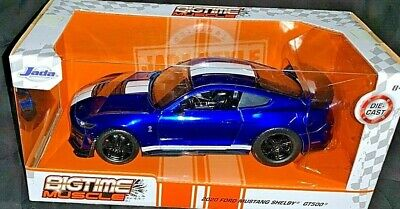 JADA 2020 1/24 DIE CAST BIGTIME MUSCLE 2020 BLUE FORD MUSTANG SHELBY GT500 NEW!