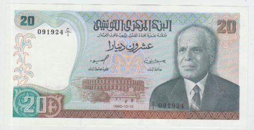 Tunisia 20 Dinar 1980 Pick 77 UNC