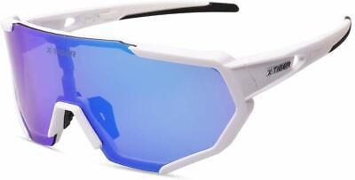 X-TIGER Polarized Sports Sunglasses with 3 Interchangeable Lenses,Mens (Polarized Sunglasses With Interchangeable Lenses)