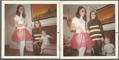 Unusual Vintage Photos Family in Halloween Costumes Man in Drag - Halloween Family Photos