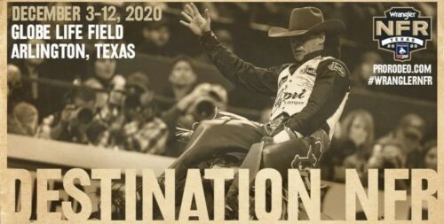 NFR Tickets Set 2 Or 4 2020 National Finals 12/5 Sec 207 Row 4 Seat 14/15 - $325.00