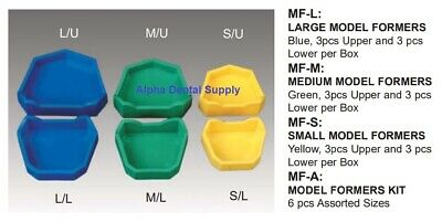 Plasdent Dental Model Formers Forms Mold Large Medium Small Assorted Kit
