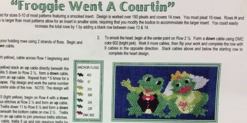 """WONDERFULLY MADE SMOCKING PLATE -""""FROGGY WENT A COURTIN"""""""