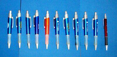 Pen Lot 10 Large Body JUMBO Ball Point Pens Rubber Grips Pocket Clips -
