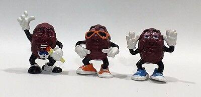 Set of 3 Vintage 1987 Hardees California Raisins CALRAB PVC Toy Action Figure