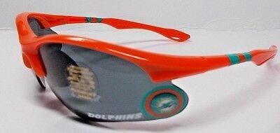 READ LISTING! Miami Dolphins BULLSEYE XLGE 3D logo on ORANGE BLADE Sunglasses! - Bullseye Sunglasses