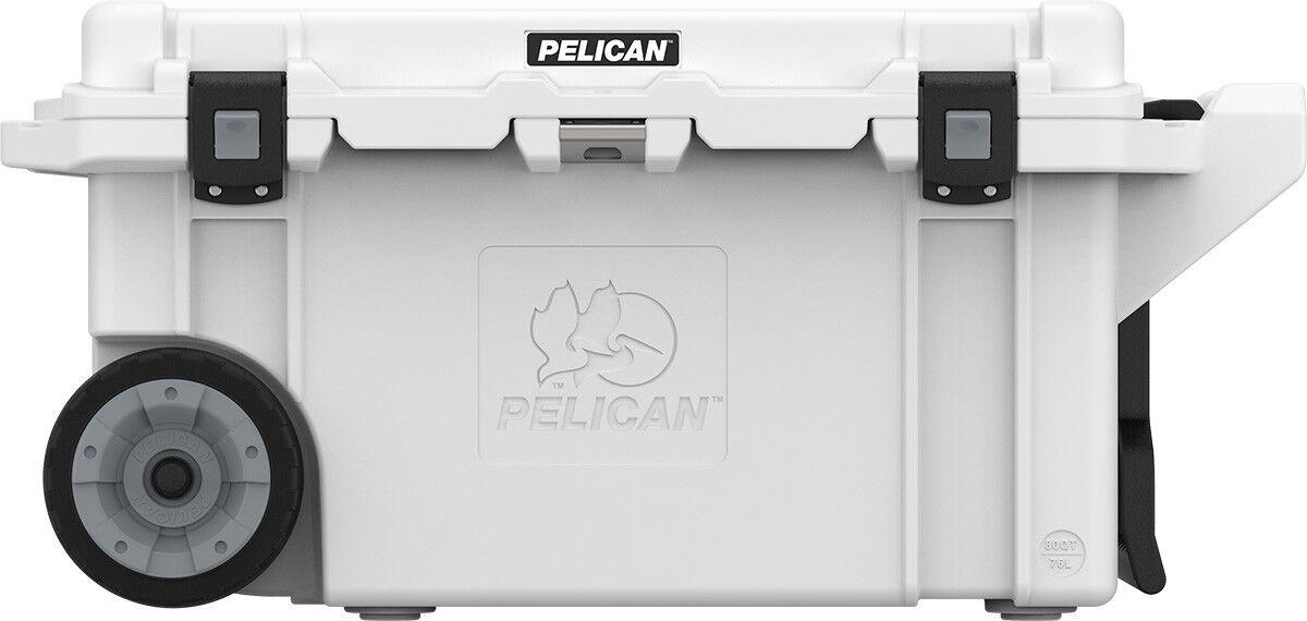 Pelican Cooler 80QT 80QW Wheels Lifetime guarantee Made in t