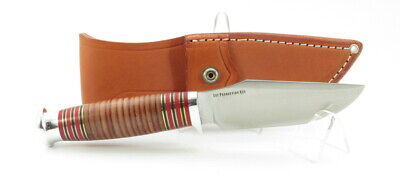 Bark River Knives Trailmate II, Stacked Leather, CPM 154, Marbles Woodcraft,Hunt