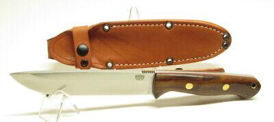 Bark River Knives Bravo 1.5 Field, CPM3V, Desert Ironwood,Red Liners &Brass Pins