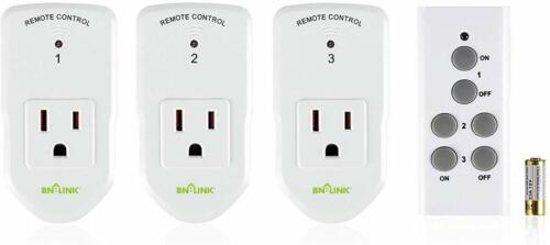 BN-LINK Wireless Remote Control Socket Electrical Outlet Switch Automation White