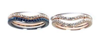 RETIRED LEMON RING SET BLUE MIXED SIZE 8 EUR 58 SWAROVSKI JEWELRY 5409188