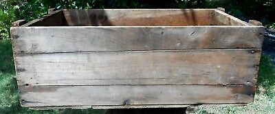 Vintage Wooden Standard Lock Washer Mfg. Co. Primitive Crate Box Worcester MA