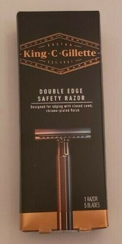 King C Gillette Double Edge Safety Razor Grooming Barber Precision Edging