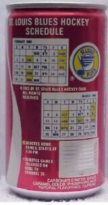 1984 ST LOUIS BLUES SCHEDULE  COCA COLA HOCKEY CAN