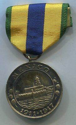 US Navy mexico CAMPAIGN Service Medal Vintage 'Studley' Thick Medal