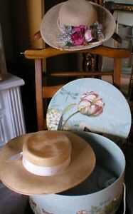 Vintage Hat with new Hat Box - 2 sets to choose from Peterborough Peterborough Area image 1