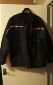 Dunlop Pro Workwear Mens Black and Grey Safety Jacket - X-Large
