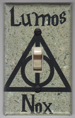 Harry Potter Lumos Nox Smooth Stone Light Switch Cover Plate - Potter Home Decor