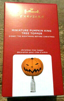 Hallmark 2020 Pumpkin King Miniature Tree Topper Nightmare Before Christmas~ MIB