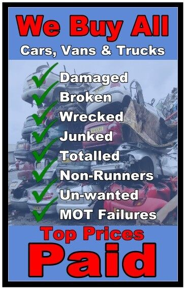 Scrap cars vans wanted non runners spares or