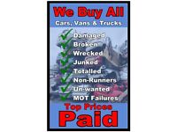 ♻♲ Scrap cars wanted ♲♻