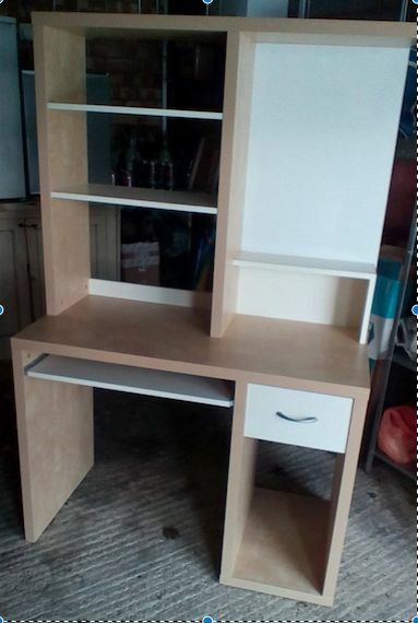 Tall Ikea Desk Unit With Pull Out Drawer And Shelving Storage