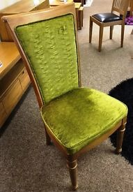 4 fabric dining chairs - price further reduced to £30 per chair