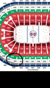 billets canadiens 304BB prix coutant Anaheim,islanders, sabres