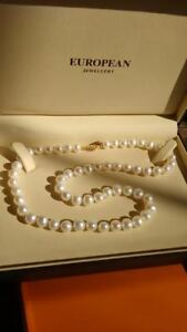 EUROPEAN JEWELLERS GOLD PEARL NECKLACE