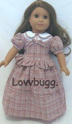 "Lovvbugg Victorian Peplum Doll Dress for 18"" American Girl  Doll Clothes"