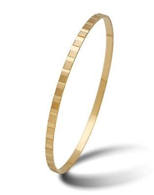 Armreif aus Gold 585 - Massiv - Höchste Qualität - Breite 3mm mit Muster Ø 60-72