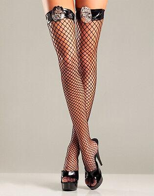 SEXY STRÜMPFE RASTER PLATTE POLIZEI FÜR FRAU KOSTÜM KARNEVAL HALLOWEEN (Sexy Halloween Kostüme Für Frauen)