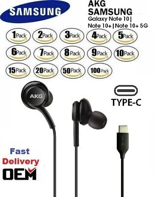 Original Note 10 AKG USB-C Headphones In Ear Type C Earbuds Samsung OEM Lot