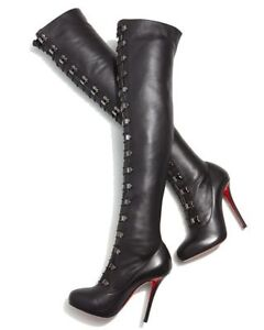 Louboutin thigh high boots. As seen on Christina Aguilera *NEW*