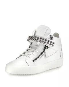 Giuseppe Zanotti Men's Studded Leather Mid-Top Sneaker (11.5 US, 45 EU)